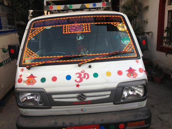 Nepal: Van - they decorate all the vehicles like this...which is awesome!