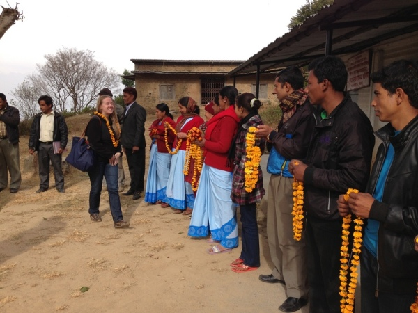 Nepal: Welcome by Dhulikhel villagers