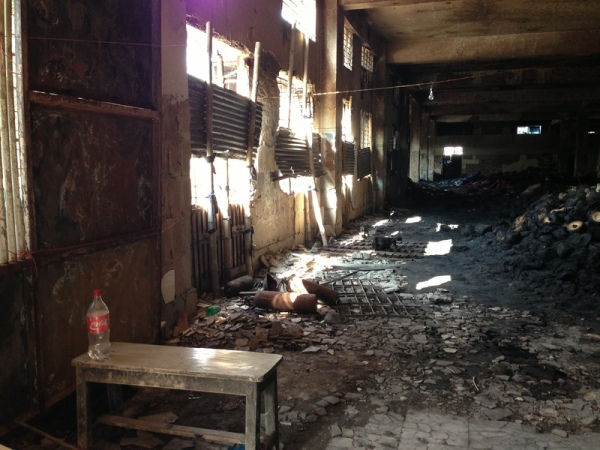 Bangladesh: First floor of Tazreen Fashions after the fire